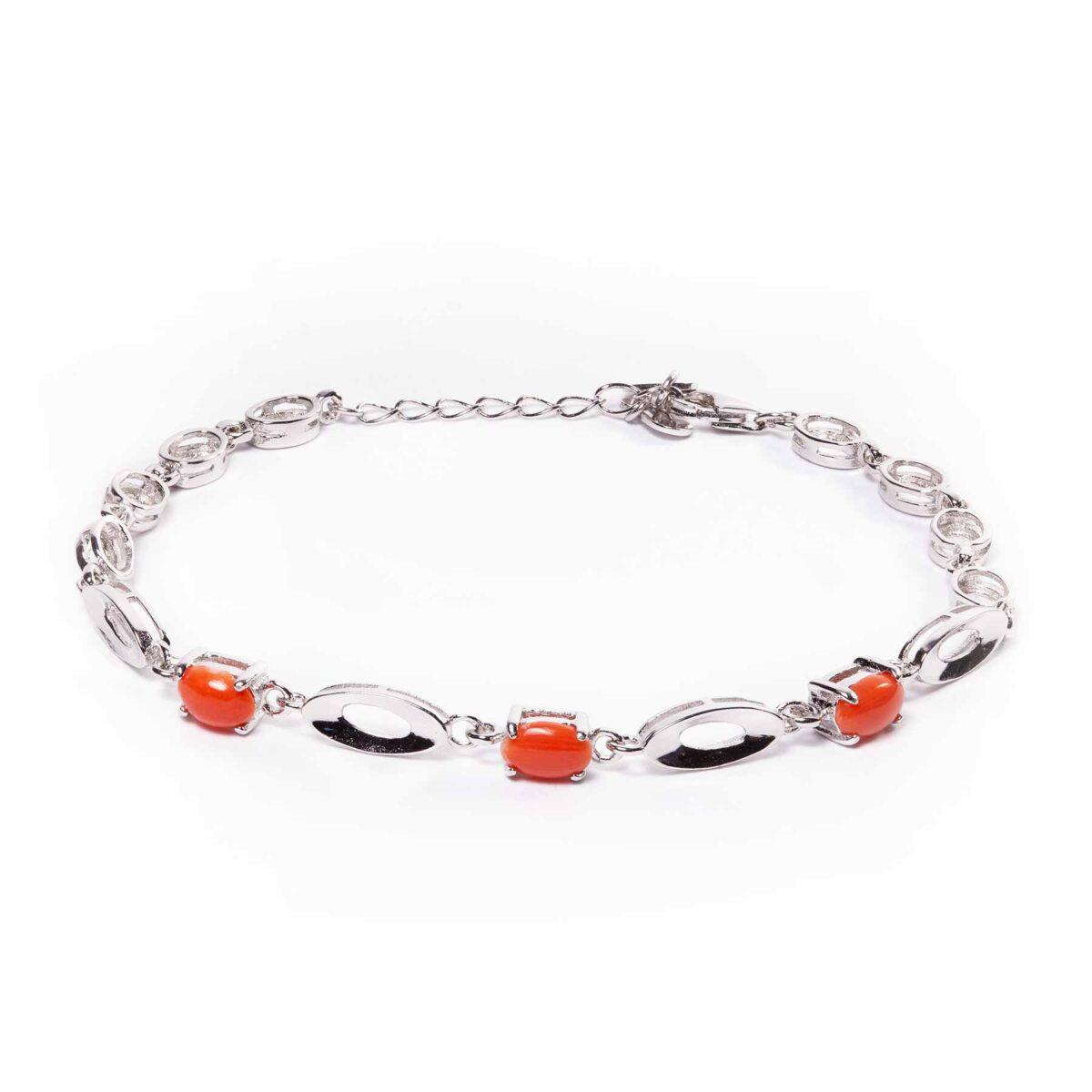 venere bracelet in silver and coral