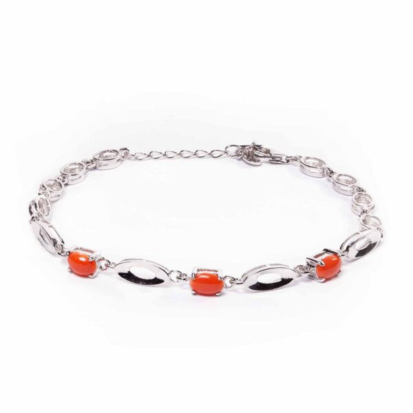 venere bracelet in silver and coral