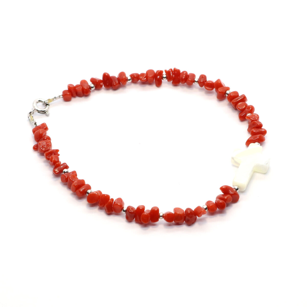 bracelet nacre and coral