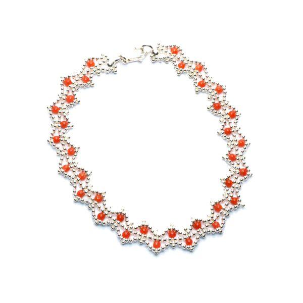 bracciale circle corallo e argento