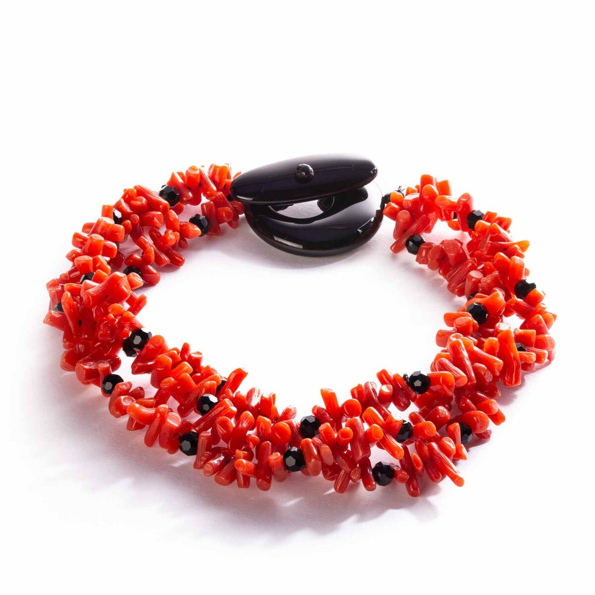 coral and onyx bracelet