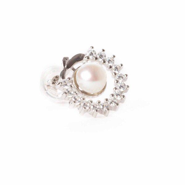 orecchini essence in argento e perla coltivata