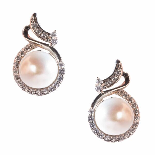 eyes earrings of cultured pearl and silver