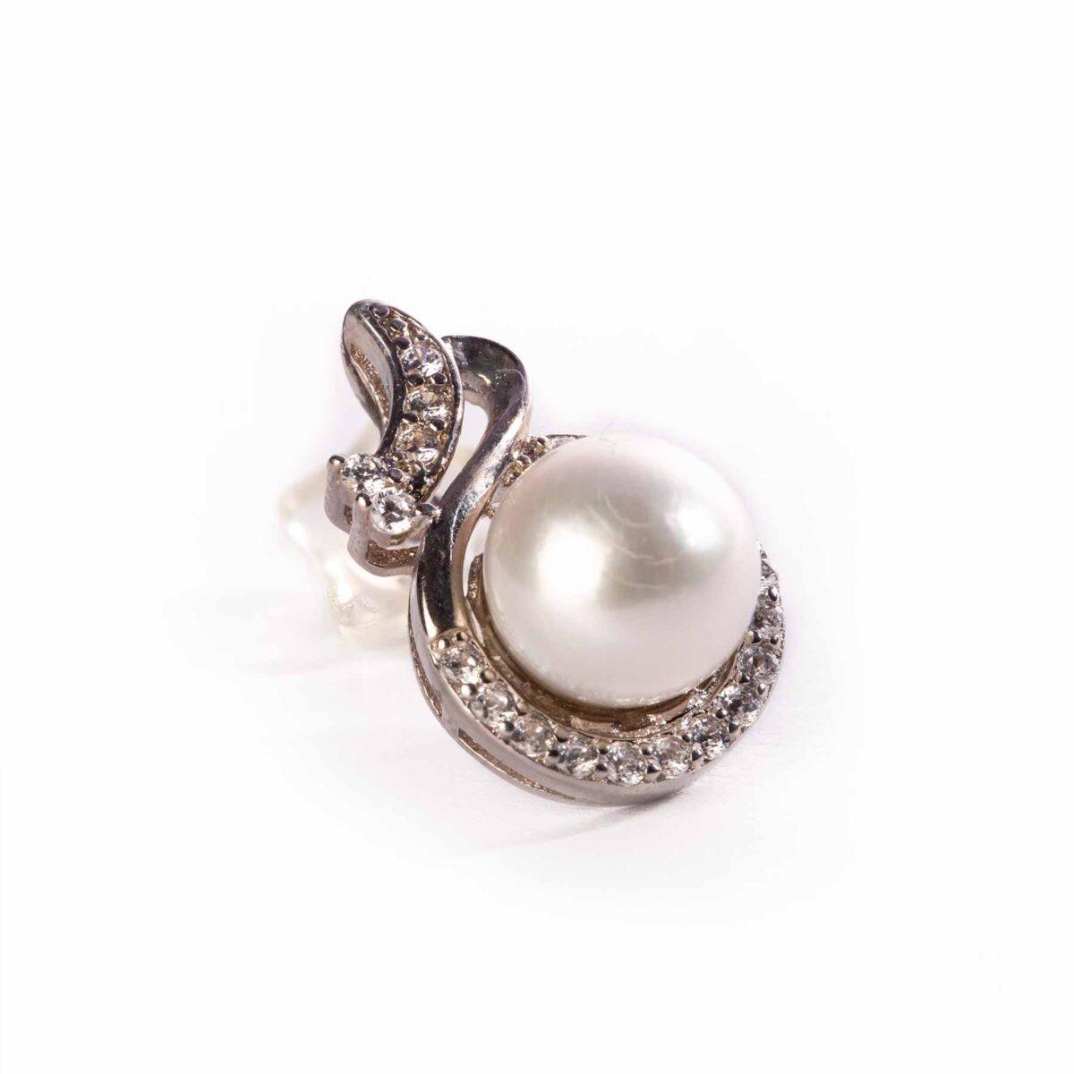 orecchini eyes di perle coltivate e argento