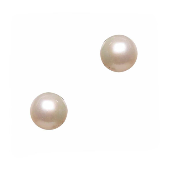cultured pearl earrings and silver