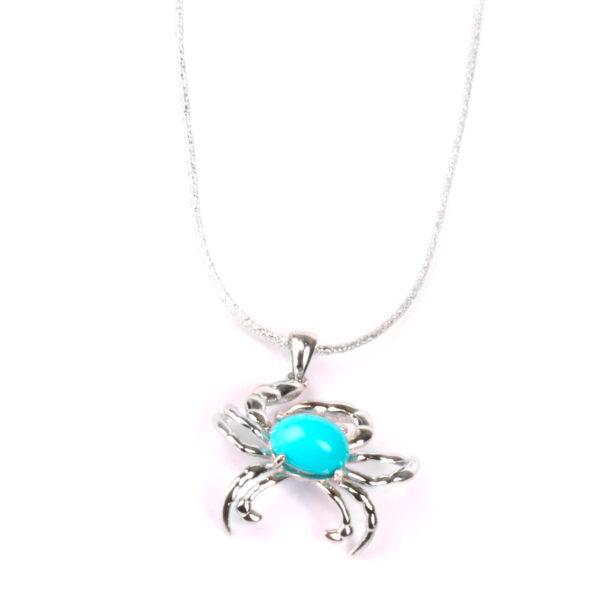collana nature in argento e agglomerato di turchese