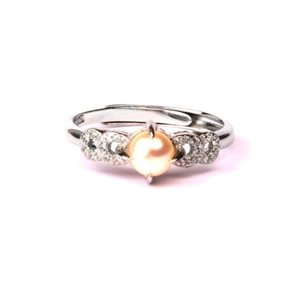 anello essence in argento e perla