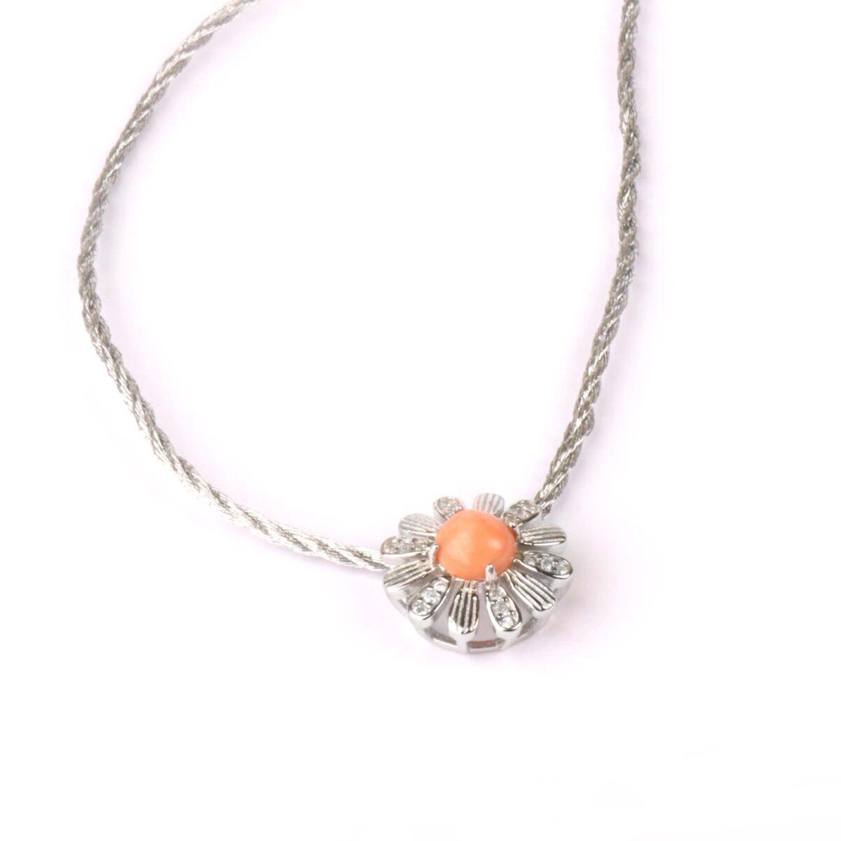 collana nature in argento e corallo