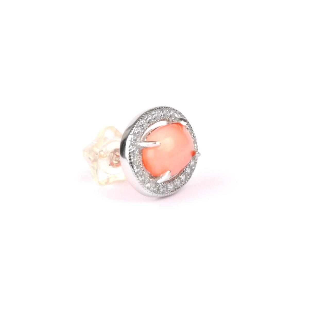 orecchini essence in argento e corallo